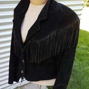 PioneerWear black suede jacket